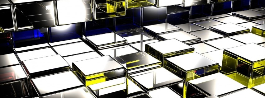 Squares Surface Metal Glass