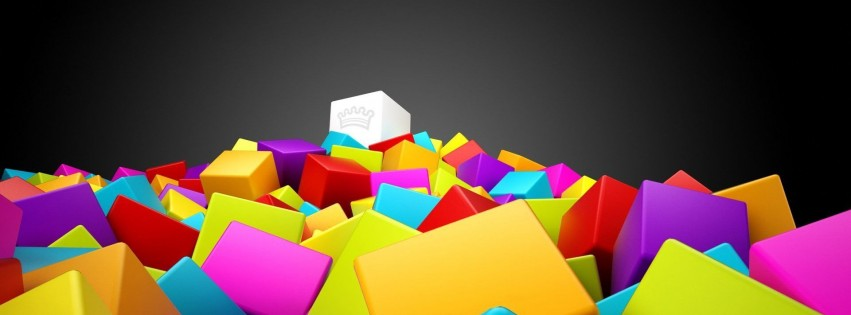 Abstract colorful design cubes digital art
