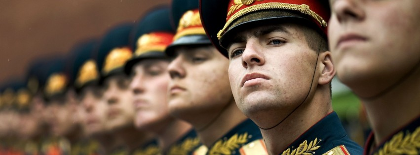 Russian military honor guard